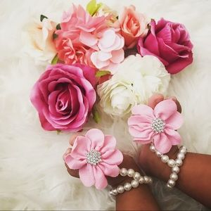 Other - Baby Girl Pearl Foot Flower Shoes Barefoot Sandals